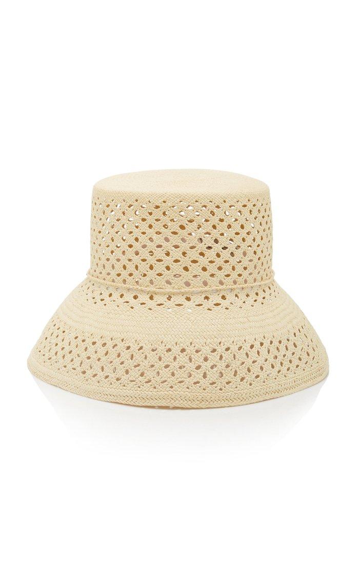 Calado Lamp Shade Straw Hat