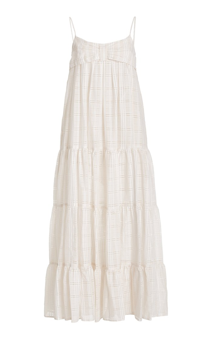 St Tropez Linen-Blend Maxi Dress