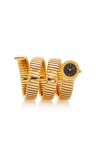 18K Yellow Gold Vintage Bulgari Tubogas Electronic Movement