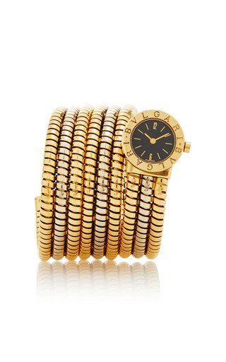 18K Yellow and White Gold 1190s Bulgari Coiled Serpenti BB19 1T Two-tone Gold 19 mm Electronic Movement