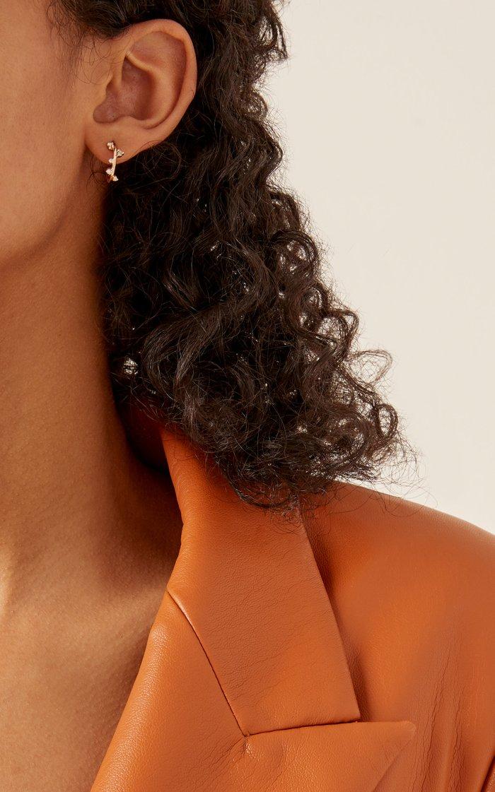 Scatter Mini 14K Gold Hoop Earrings