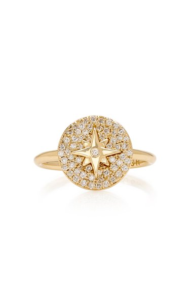 Coexist 14K Gold And Diamond Ring