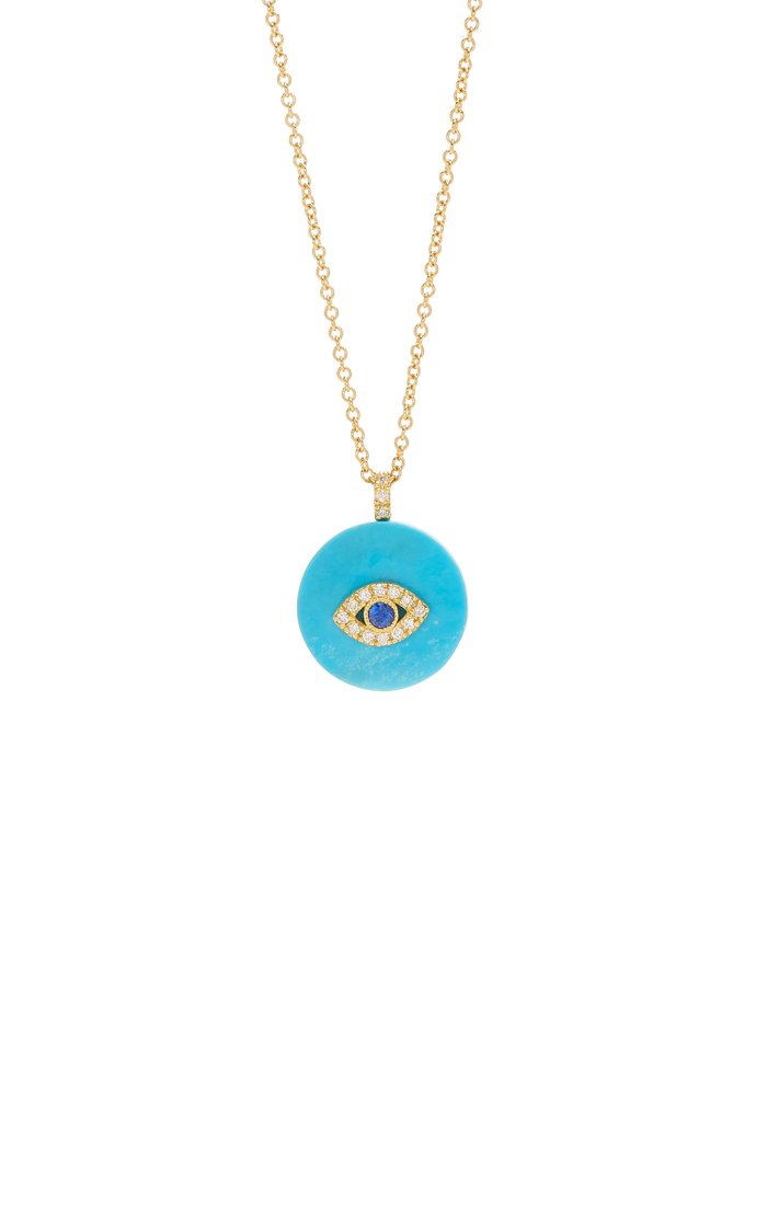 Coexist 18K Gold, Turquoise And Diamond Necklace