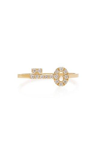 Secret Key 14K Gold And Diamond Ring