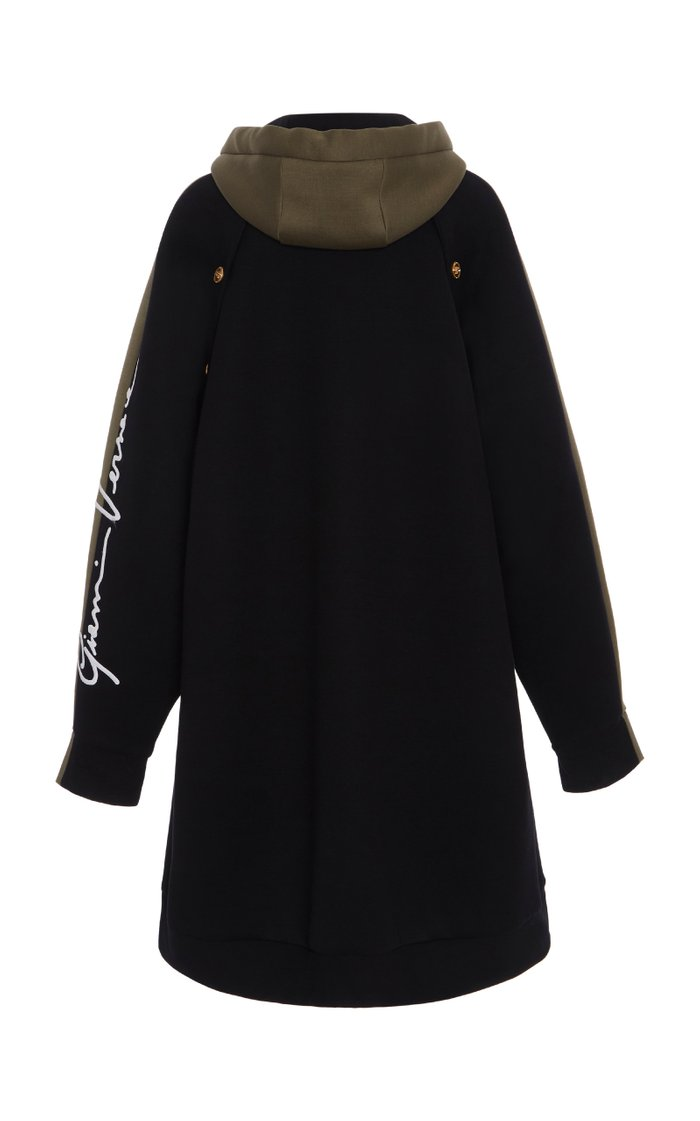 Two-Tone Oversized Cotton-Blend Hoodie