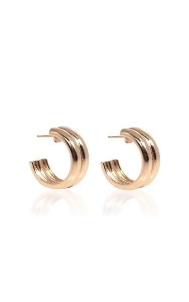 Varro Gold-Plated Hoop Earrings