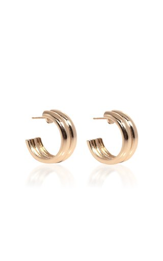 Varro Gold-Plated Hoop Earrings