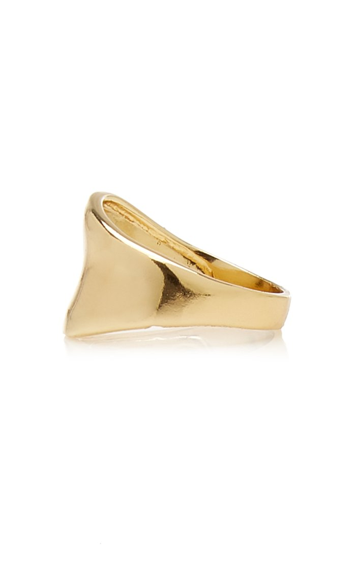 Crest Gold-Plated Ring