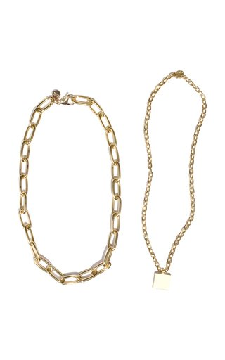 Set-Of-Two Gold-Plated Necklaces