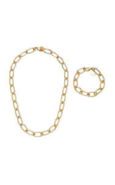 Gold-Tone Necklace And Bracelet Set