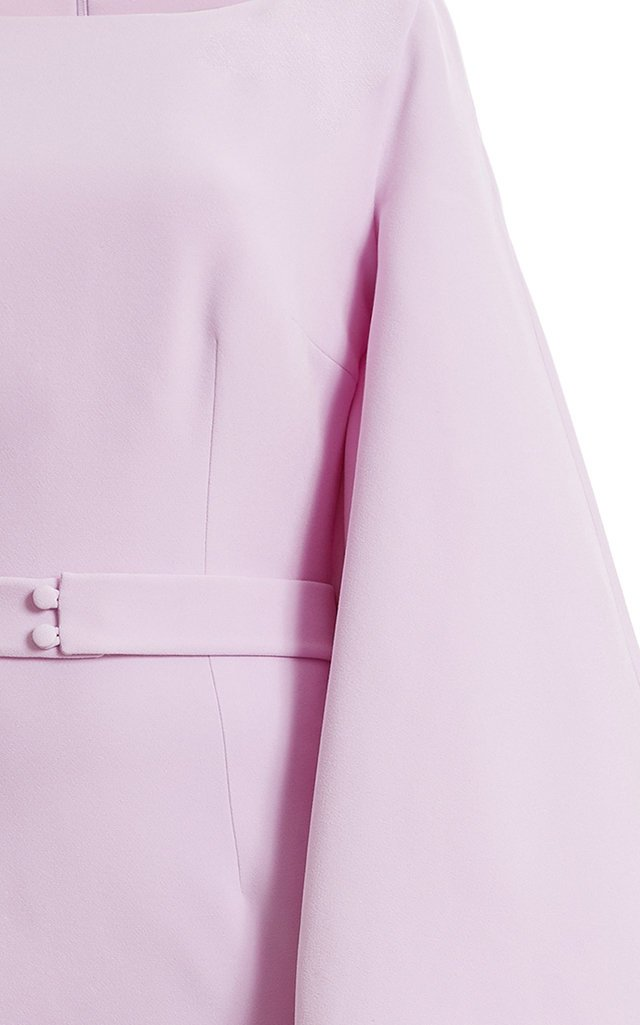 Exclusive Draped Crepe Maxi Dress