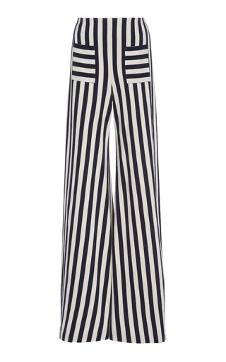 Specialorder-Luc Striped Jersey Wide-Leg Pants-MS
