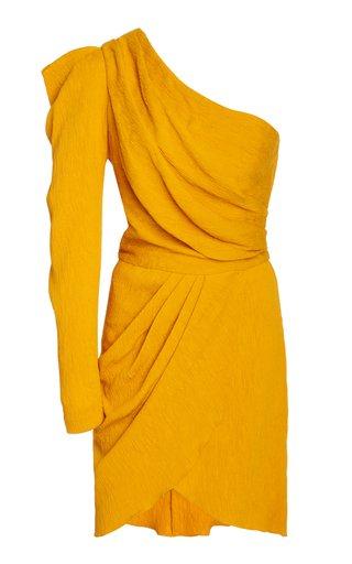 Shining Sun One-Shoulder Crepe Dress