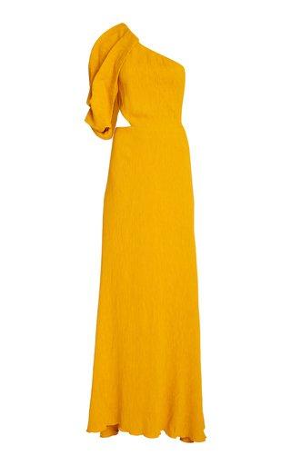 Shimmering Blush Removable Sleeve Crepe Dress