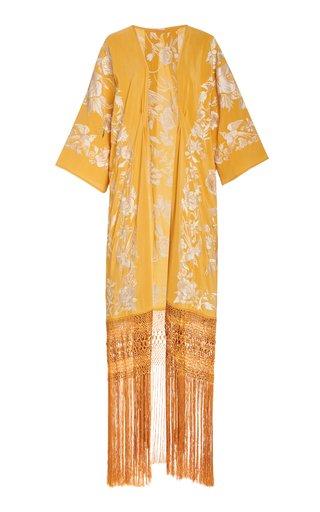Antique Bronze Embroidered Silk Kimono