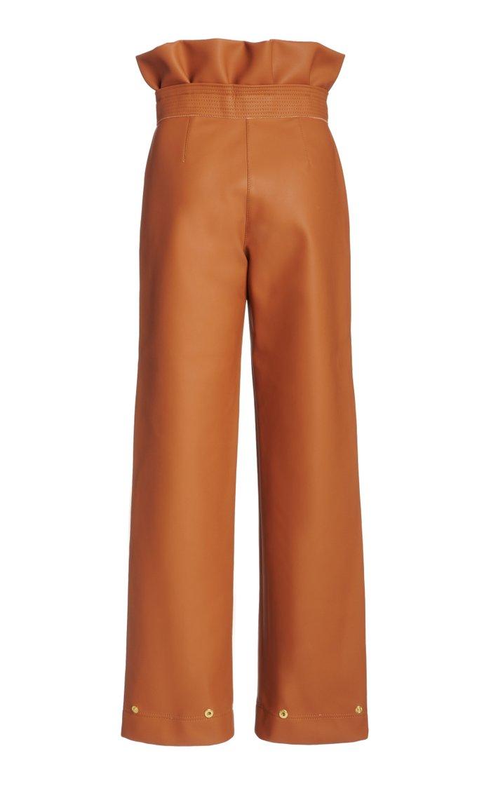 Canis Honey High-Rise Vegan Leather Pants