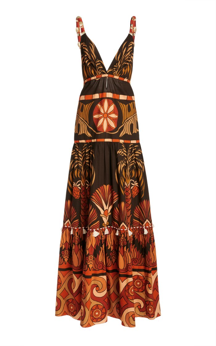 Neptunian Printed Cotton Dress