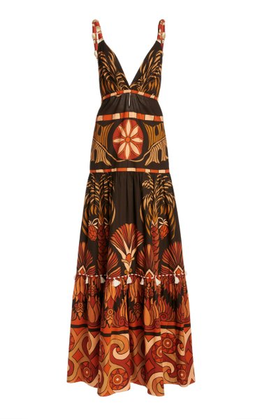 Neptunian Printed Cotton Dress