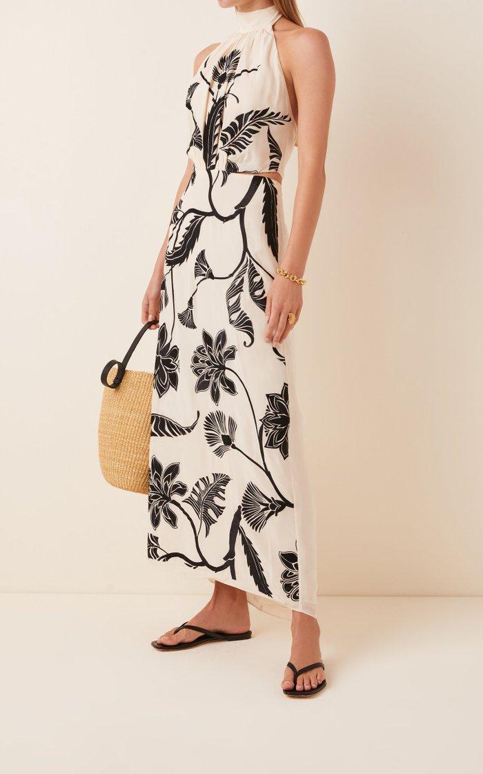 Ancient Dynasty Silk Halter Dress