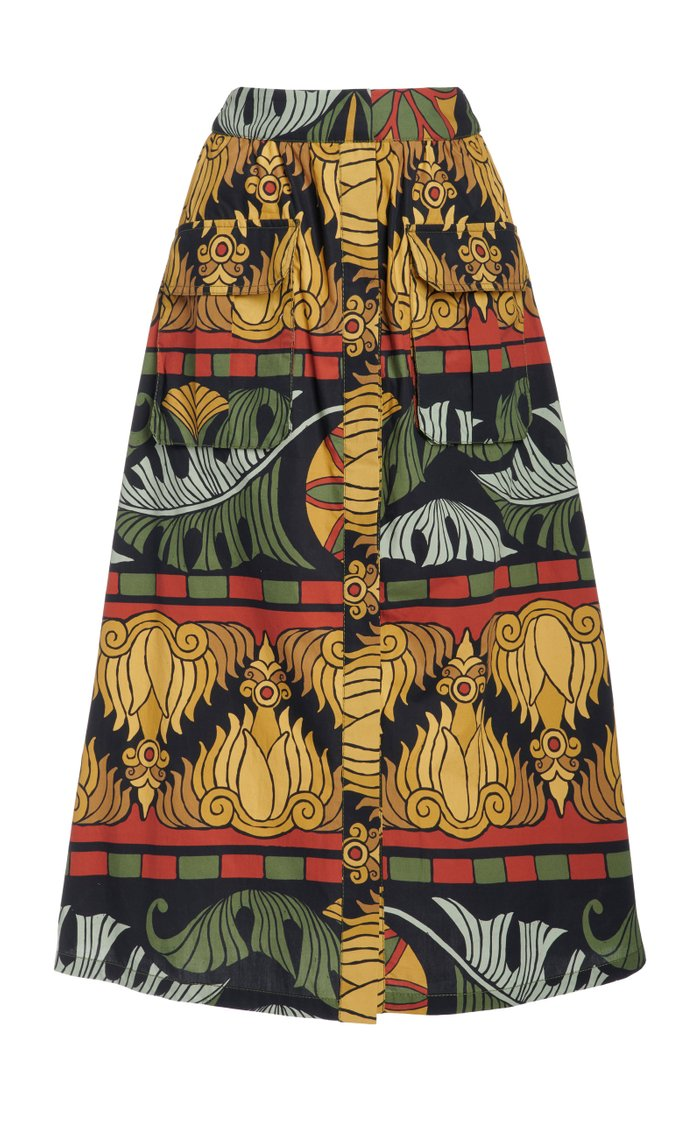 Crossroads Printed Cotton Skirt