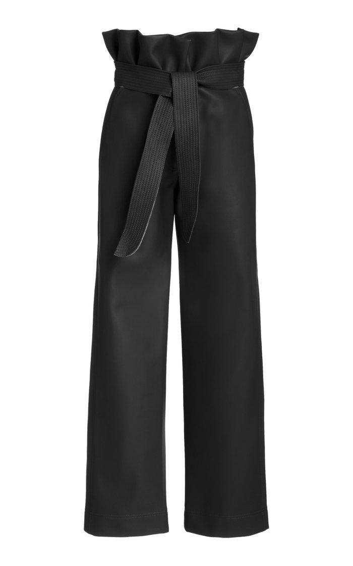Lady Of The Desert High-Rise Vegan Leather Pants