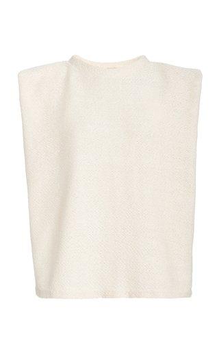 Obelisk Sleeveless Cotton-Blend Top