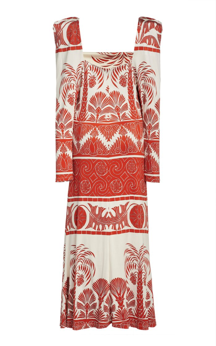 Paint The Universe Printed Crepe Dress