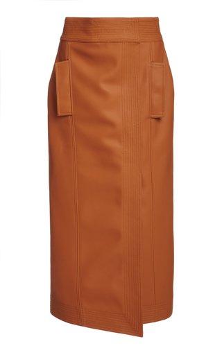 Strong Words Vegan Leather Skirt