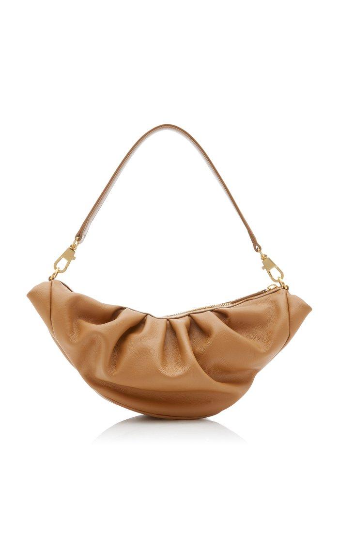 Croissant Leather Top Handle Bag