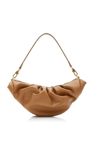 Croissant Leather Top Handle Bag