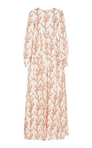 Nuez Arrecife Printed Linen Maxi Dress