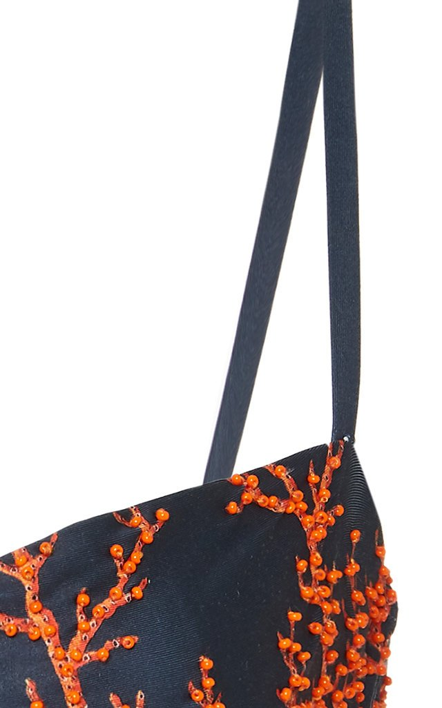 Arrecife Mostaza Embroidered Bikini Top