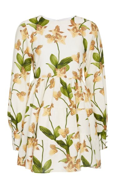 Nuez Jardin Linen Mini Dress