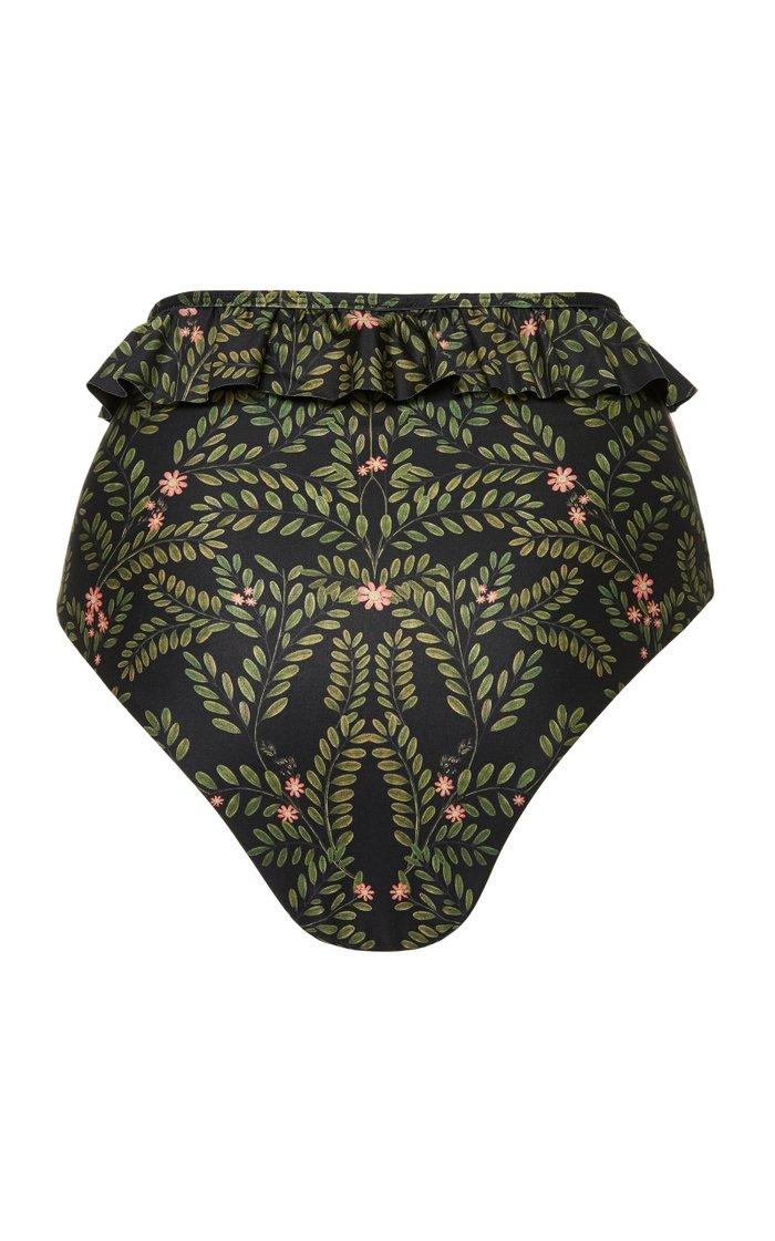 Alicia Ruffled Printed Bikini Briefs