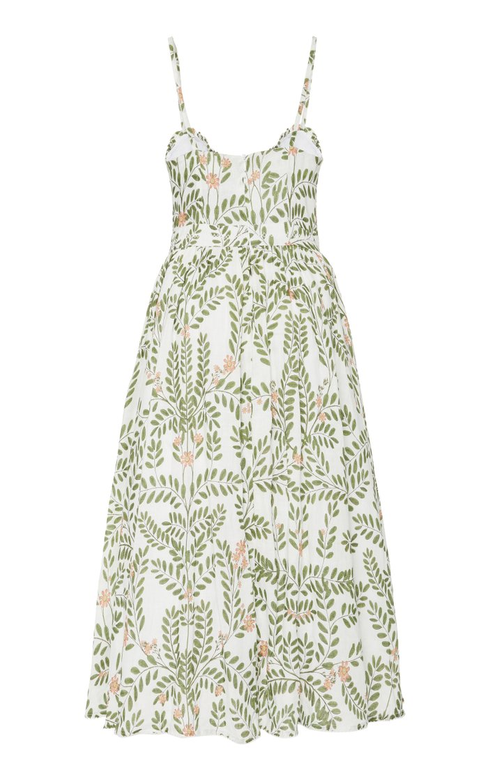 Acacia Herbal Linen Midi Dress