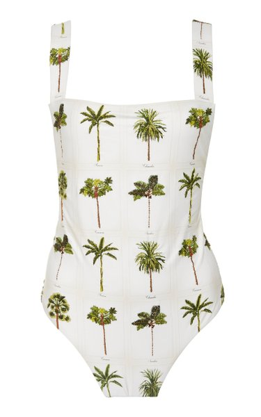 Café Caribe Printed Swimsuit