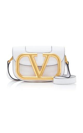 Valentino Garavani Supervee Small Logo Leather Shoulder Bag