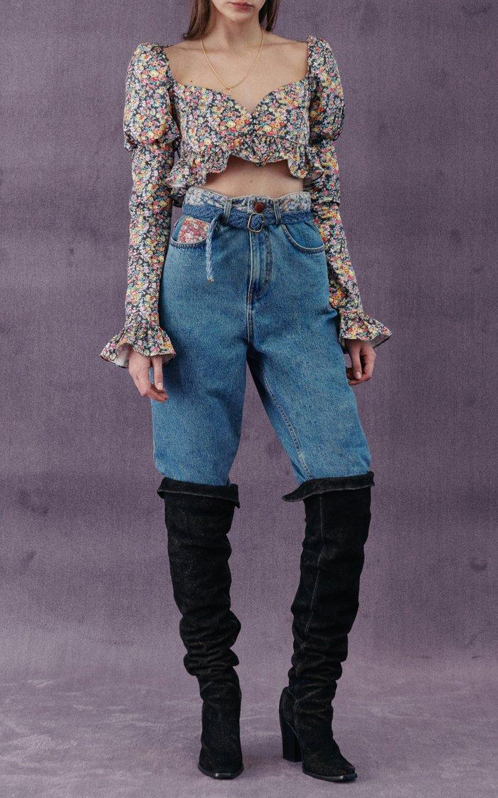 Liberty Rigid High-Rise Straight-Leg Jeans