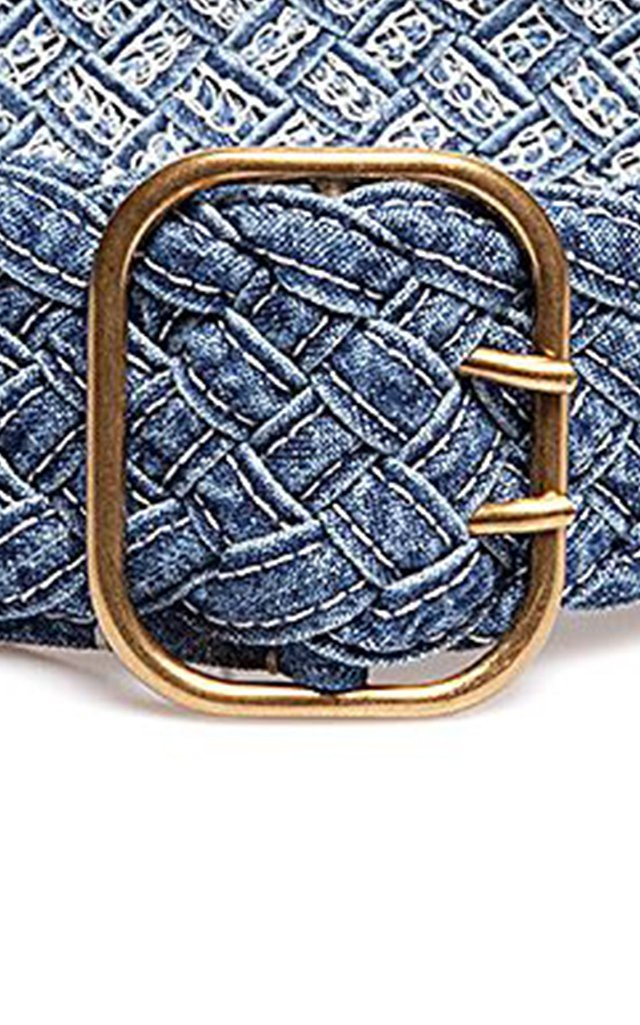 Woven Cotton-Chambray Belt