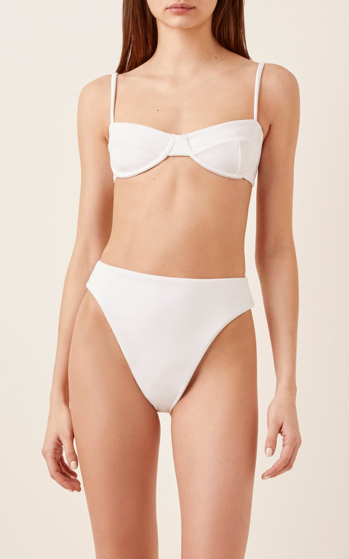 Vintage Crepe Bikini Top