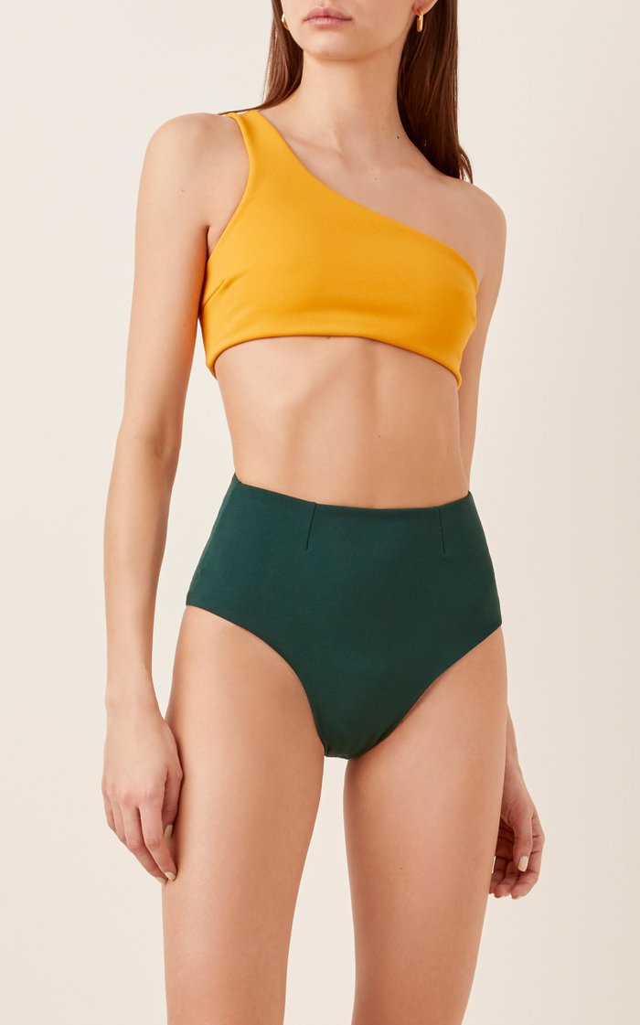 Perlin One-Shoulder Bikini Top