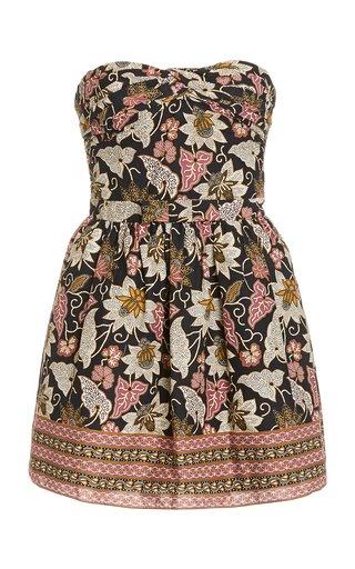 Malena Printed Cotton Mini Dress
