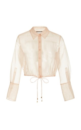 Emmie Tie-Detailed Chiffon Shirt