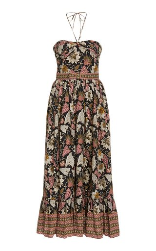 Aniessa Printed Cotton Halterneck Dress