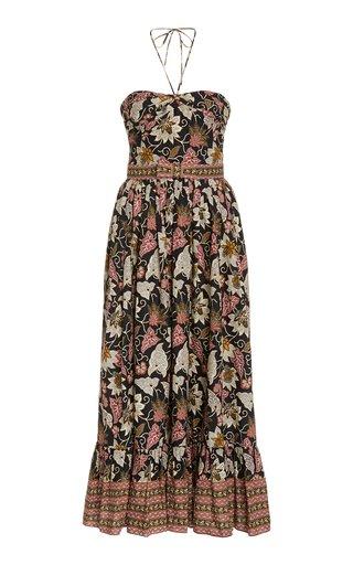 Aniessa Printed Cotton Halterneck Dress