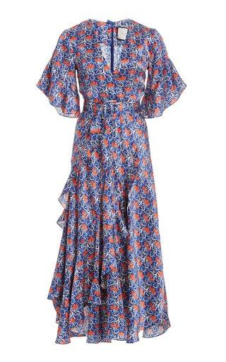Alleria Printed Chiffon Midi Dress