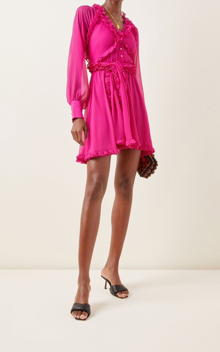 Suzette Ruffled Chiffon Mini Dress