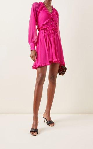 Suzette Ruffled Chiffon Mini Dress