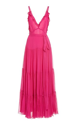 Tasha Ruffled Tiered Chiffon Maxi Dress