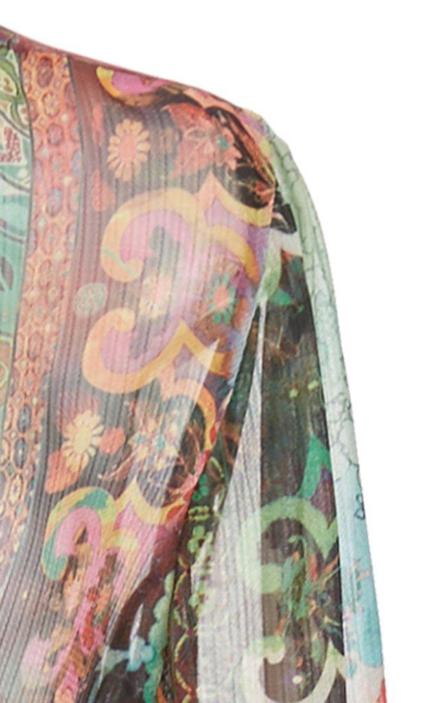 Shoshana Printed Chiffon Wrap Dress